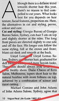 Vogue Australia 1982/83